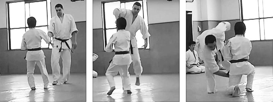 Shodokan style jodan kuzushi
