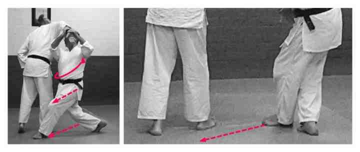 sumi otoshi diagonal tension